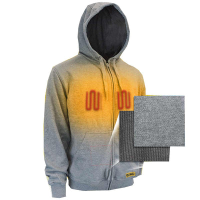 DEWALT® Heated French Terry Heathered Gray Cotton Hoodie Bare