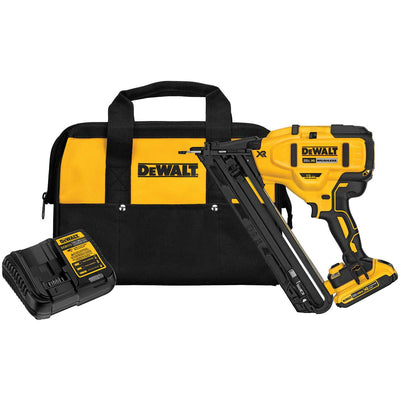 DEWALT 20V MAX* XR 15 Gauge Angled Finish Nailer Kit