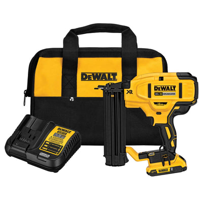 DEWALT 20 V MAX* XR 18 Gauge Brad Nailer Kit