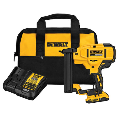 DEWALT 20 V MAX* XR 18 Gauge Narrow Crown Stapler Kit