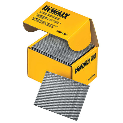 DEWALT 2-1/2 Straight 16 Gauge Finishing Nails 2500 Ct.