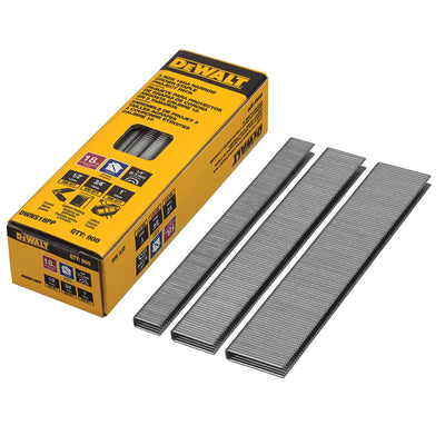 DEWALT 18 Gauge Narrow Crown Staple Project Pack