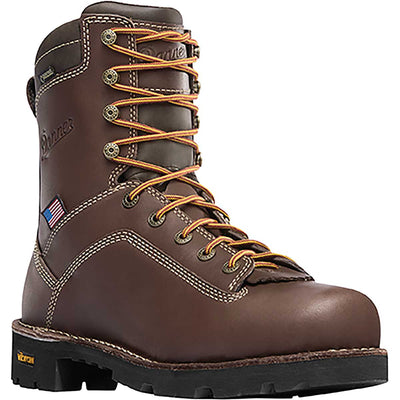 "Danner Men's Quarry USA 8"" Alloy Toe Boots"