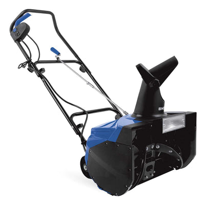 "Snow Joe 18"" Electric Single Stage Snow Thrower with 13.5 Amp Motor & Headlights"