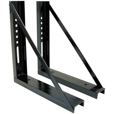 "Buyers Products 18x18"" Welded Black Formed Steel Mounting Brackets"