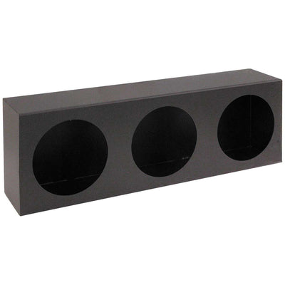 Buyers Products Triple Round Light Box Black Powder Coated Steel