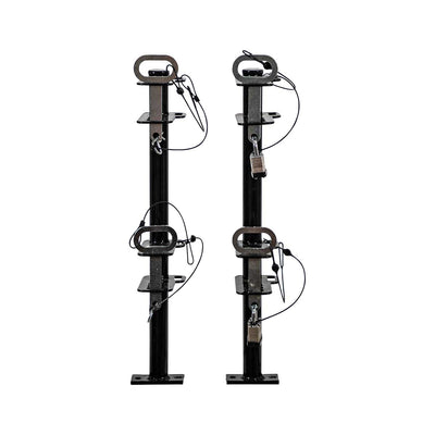 Buyers Products  2 Position Channel-Style Lockable Trimmer Rack for Open Landscape Trailers