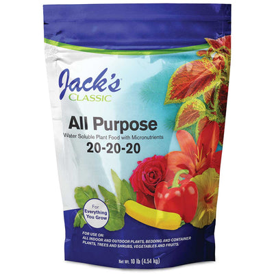 Jacks Classic 10 lb All Purpose 20-20-20 Fertilizer