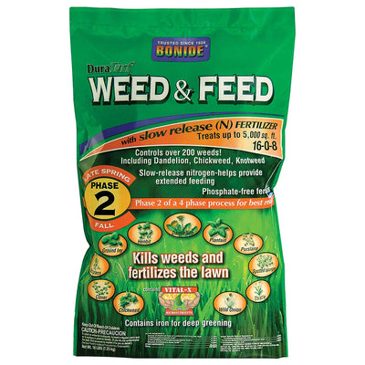 Bonide DuraTurf® Weed & Feed 16-0-8, (Phase 2), 5M