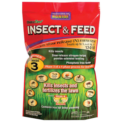 Bonide DuraTurf® Insect & Feed 12-0-10, (Phase 3), 5M