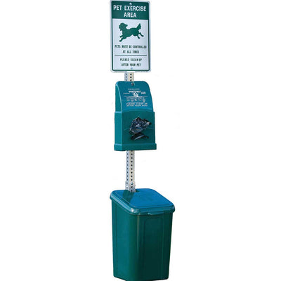 DOGIPOT® Poly Quik Pet Station with Steel Post