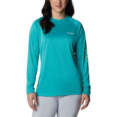 Columbia Women's PFG Tidal Tee Heather Long Sleeve Shirt
