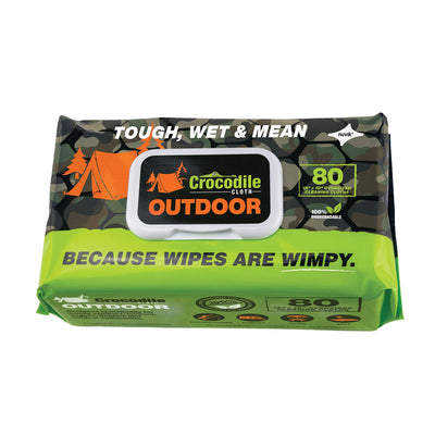 Crocodile Cloth® Biodegradable Outdoor Wipes 80pk