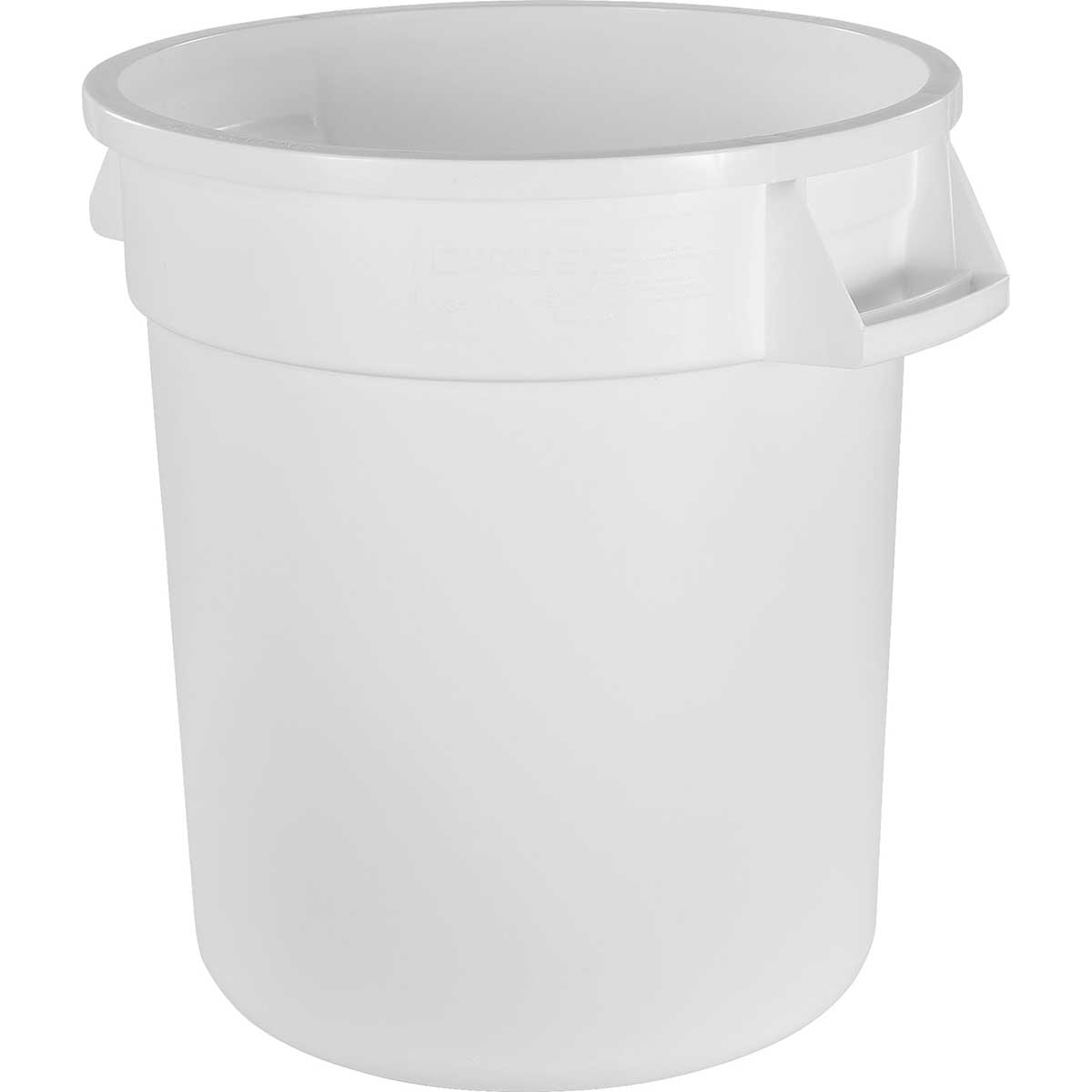 "10-Gallon Bronco Round ""Ice Melt"" Trash Can, Pack of 6"