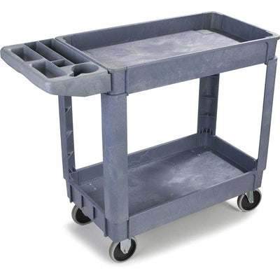 "Small Bin Top Utility Cart w/ 5"" Casters"