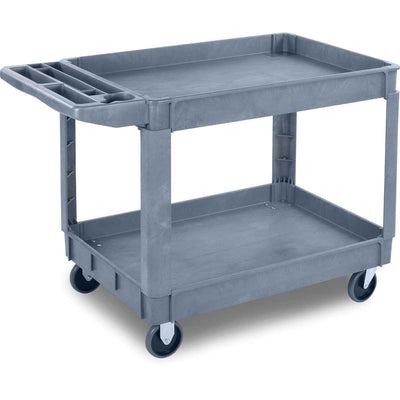 "Large Bin Top Utility Cart w/ 5"" Casters"