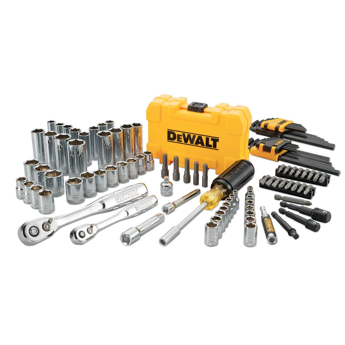 DeWalt Mechanic's Tool Kit, 108 Piece Set, with PTA Case