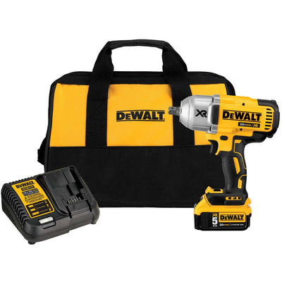 DEWALT 20 V MAX XR Brushless High Torque 0.5 In Impact Wrench Kit with Detent Pin Anvil