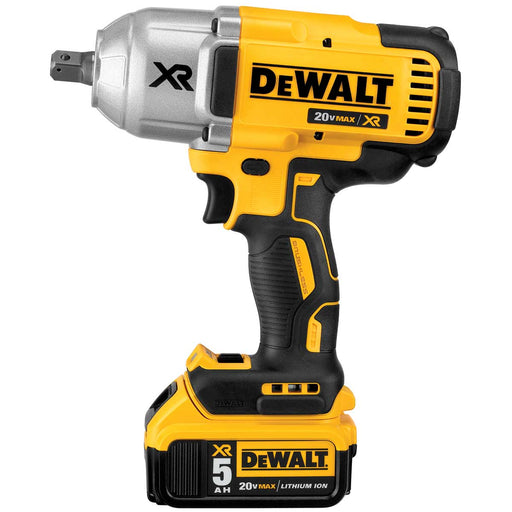 DEWALT 20 V MAX XR Brushless High Torque 1/2-in Impact Wrench Kit with Detent Pin Anvil 5.0Ah