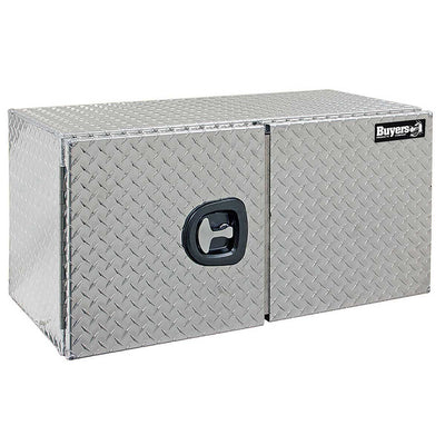 Buyers Products Diamond Tread Aluminum Underbody Truck Box With Barn Door