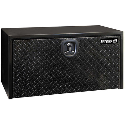 Buyers Products Black Steel Underbody Truck Box With Aluminum Door