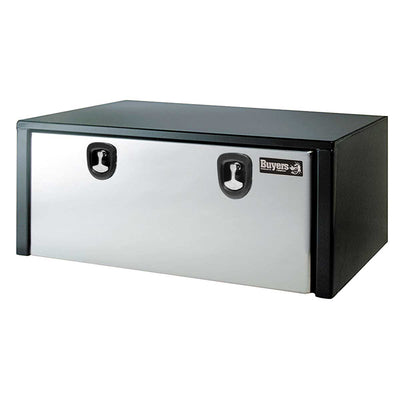 Buyers Products Black Steel Underbody Truck Box With Stainless Steel Door