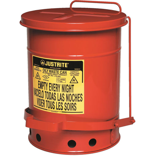 Justrite 6-gal. Oily Waste Can