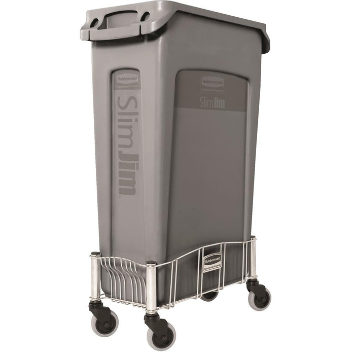 Rubbermaid Slim Jim Stainless Steel Dolly