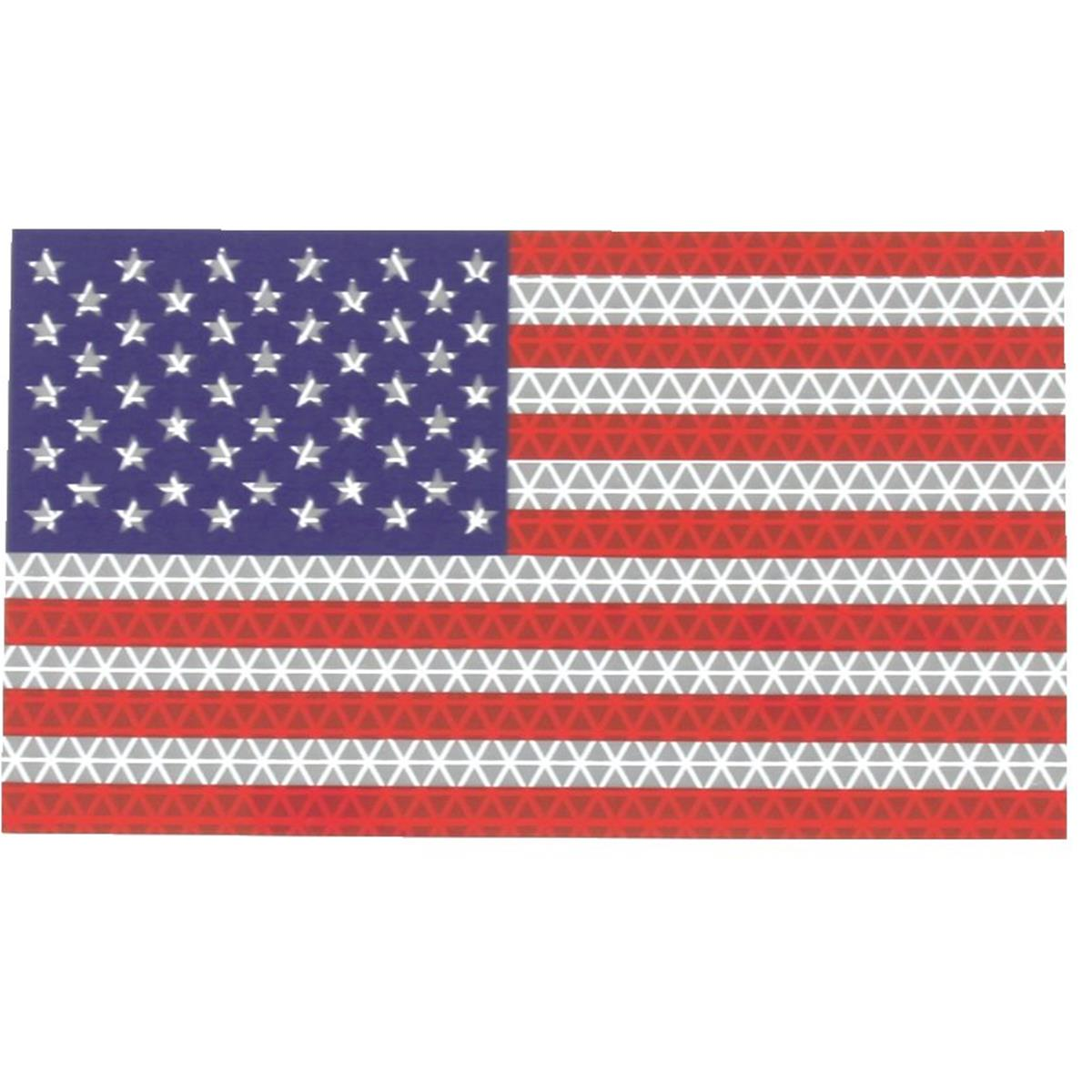 Small Reflective Flag Decal