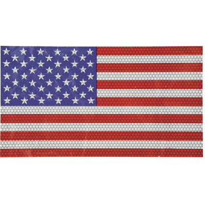 Large Reflective Flag Decal