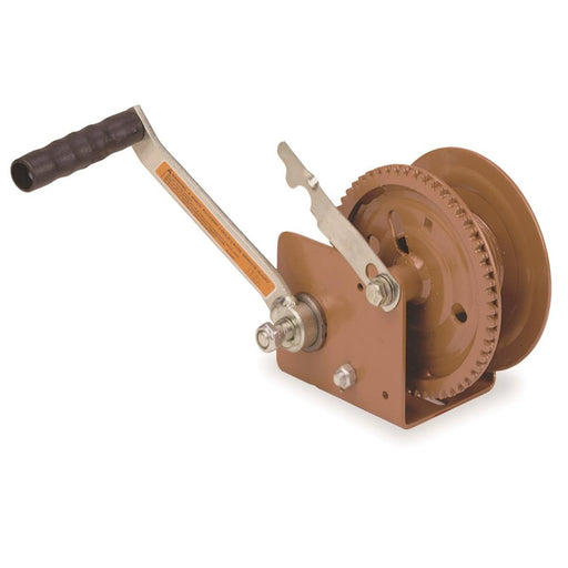 Hand Crank Winch with Automatic Brake, 1,200-lb. Pulling Capacity