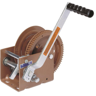 Hand Cranked Winch with Automatic Brake, 800-lb  Pulling