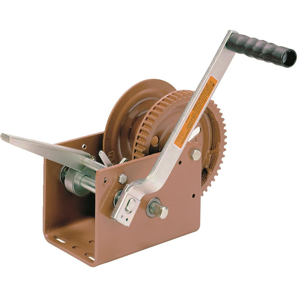 Hand Crank Winch With 2,500 lb. Pulling Capacity