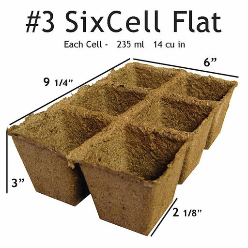 #3 SixCell CowPots Volume 235 mL/cell