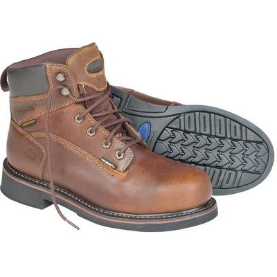 "Wolverine Brek Durashocks® 6""H Waterproof Boots, Plain or Steel Toe"