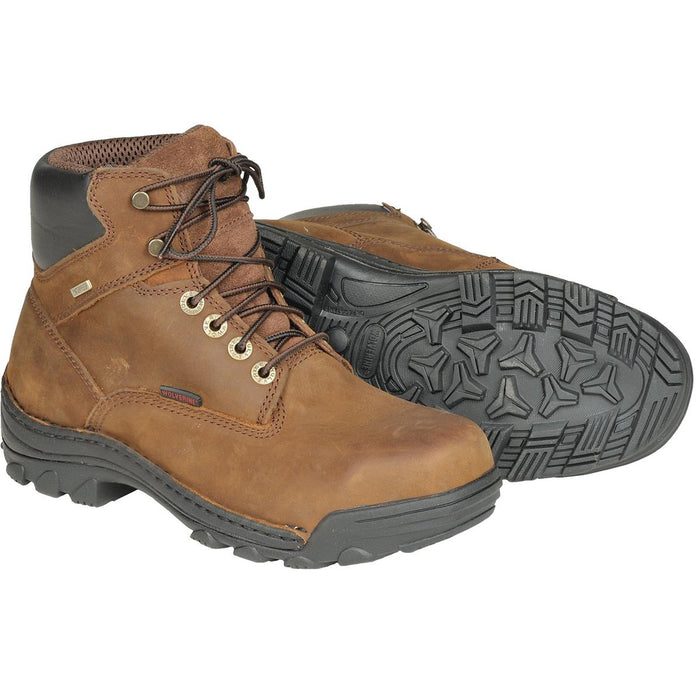 "Wolverine Durbin 6""H Waterproof Work Boots, Plain Toe or Steel Toe"