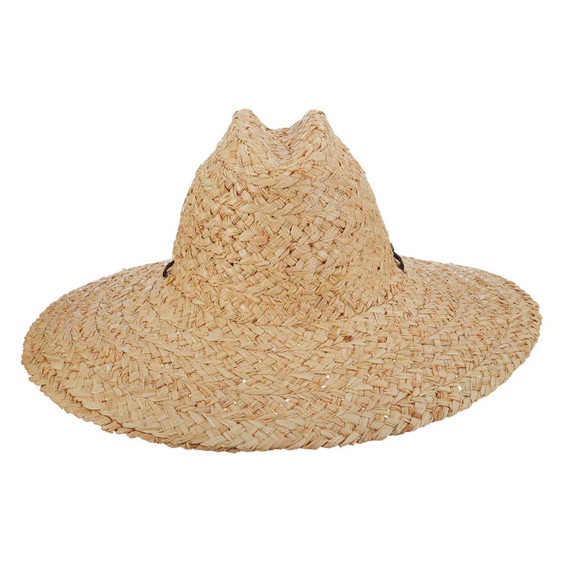 "Rough Braid Raffia Lifeguard Hat with 5"" Brim"