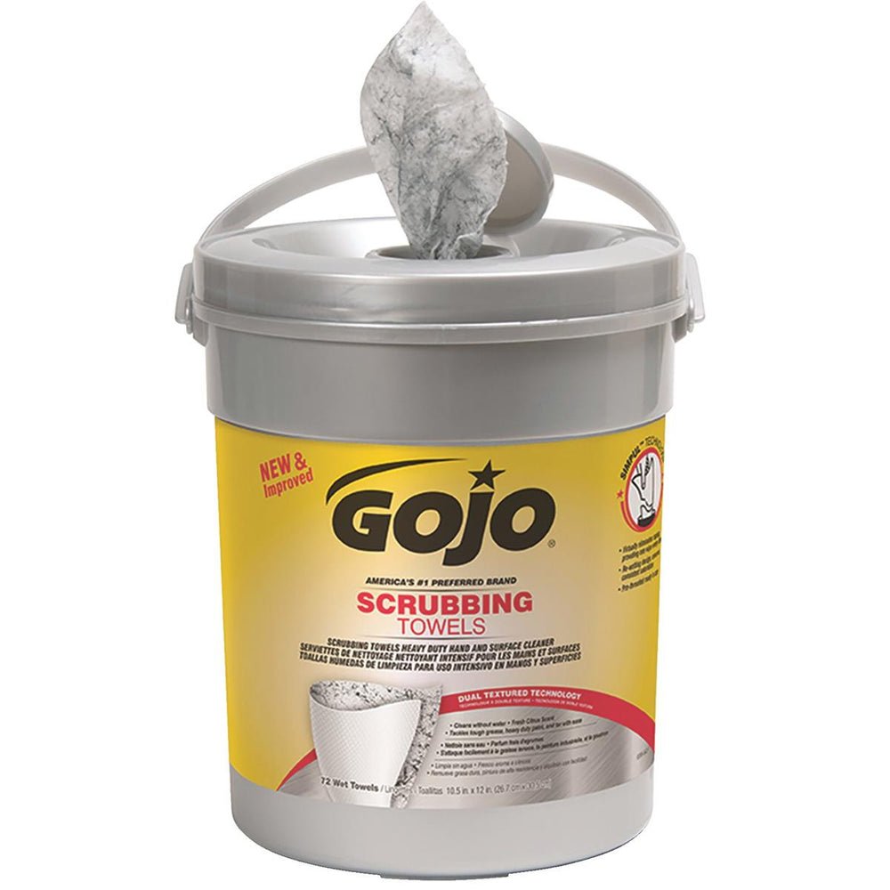 GOJO Scrubbing Towels - 72-count Canister