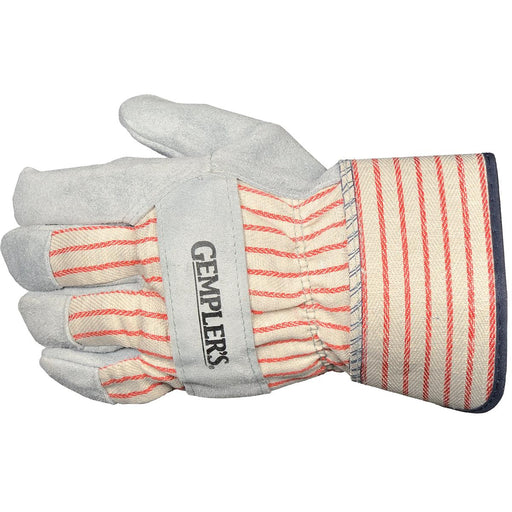 Leather Palm Gloves with Safety Cuffs