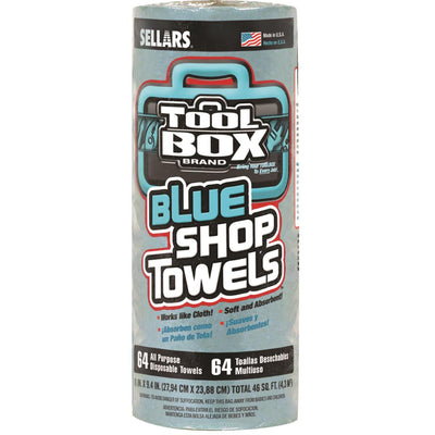 SELLARS ToolBox&REG Blue Shop Towels