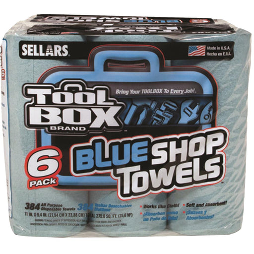 ToolBox® Blue Shop Towels