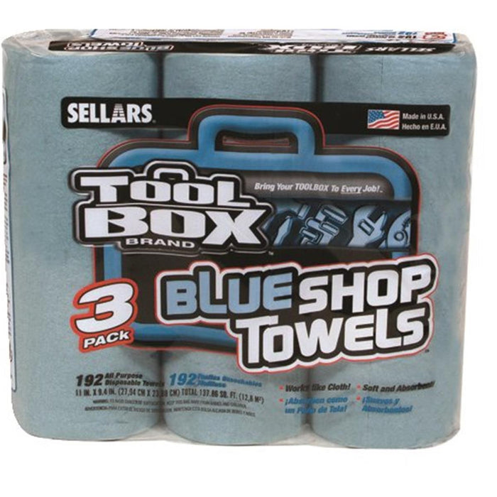 SELLARS ToolBox® Blue Shop Towels