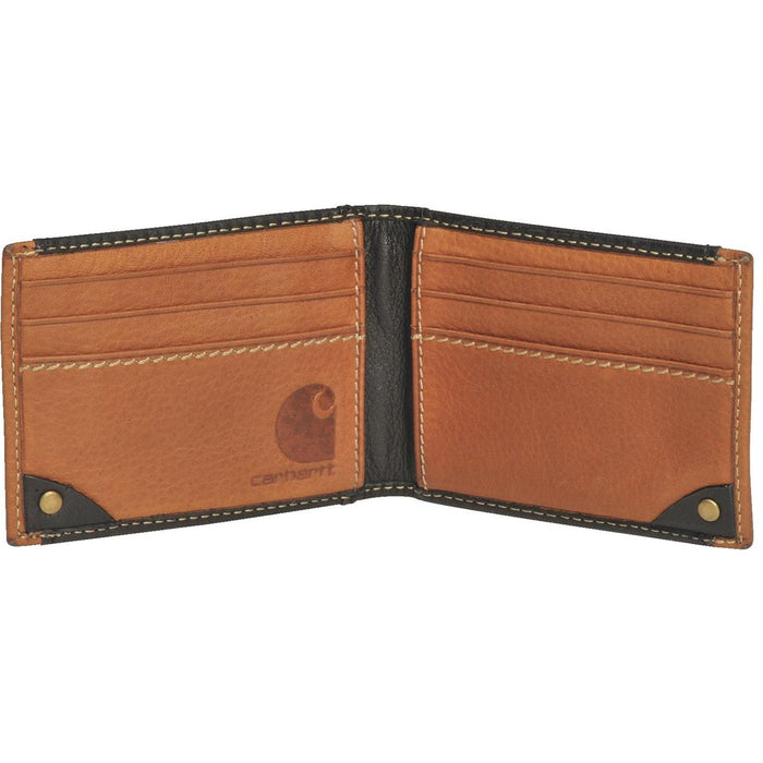 Carhartt Black and Tan Wallet with Money Clip