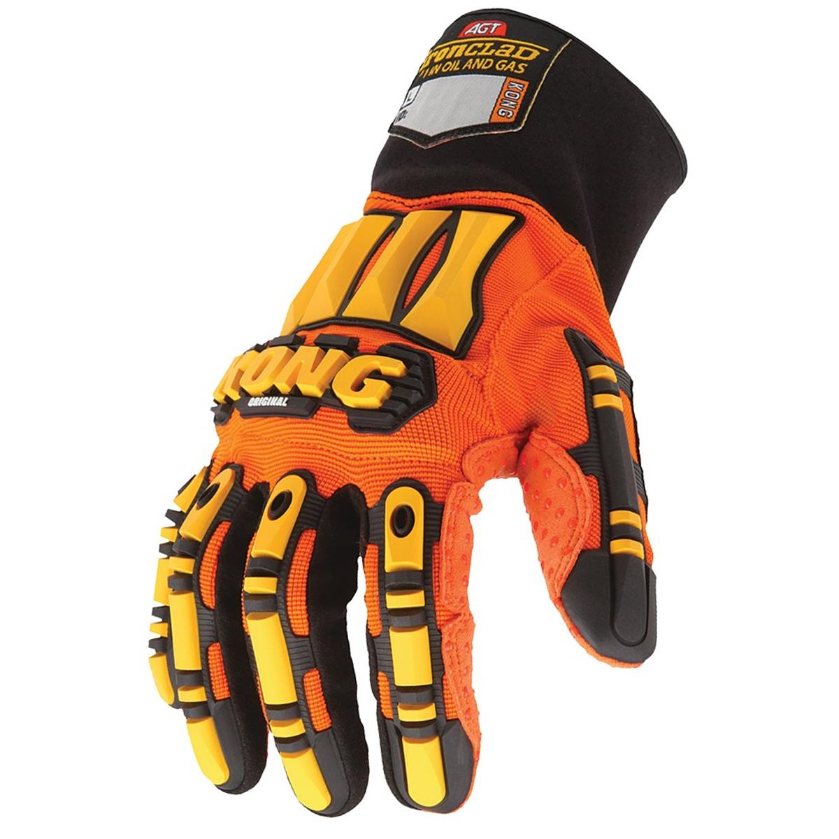 Boss  Snow Shield  Men/'s  Indoor//Outdoor  PVC  Coated  Chemical Gloves  Orange