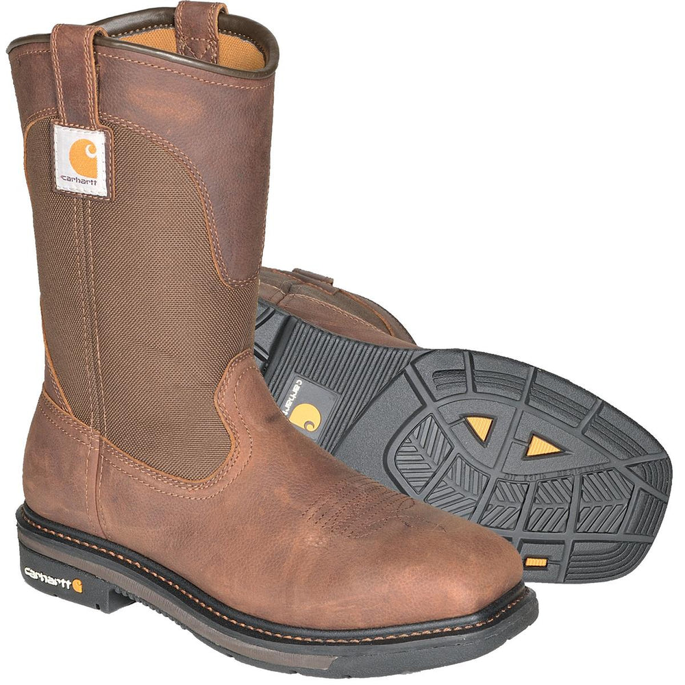 "Carhartt 11""H Square Toe Wellington Boots, Plain Toe or Steel Toe"