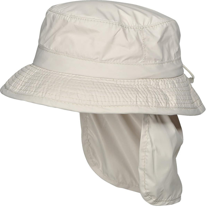 Sun-Block Bucket Hat with Neck Flap