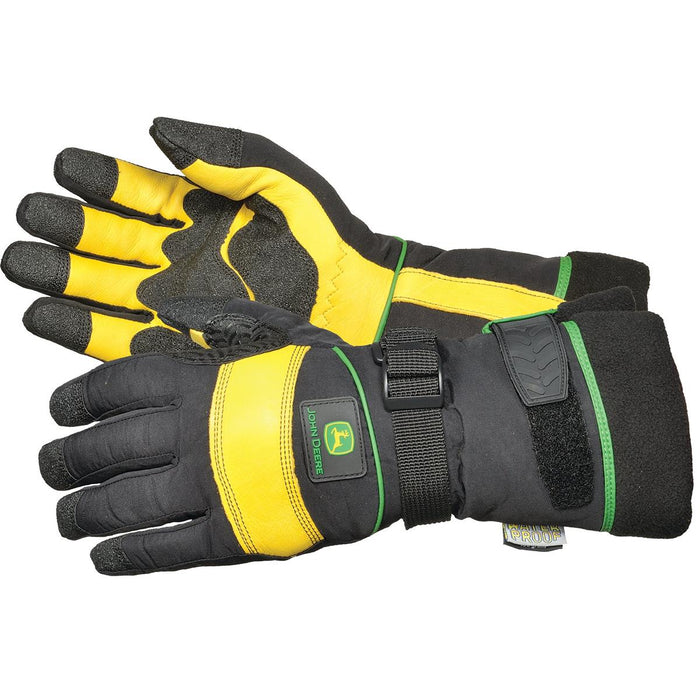 John Deere Insulated, Waterproof Deerskin Ski Gloves