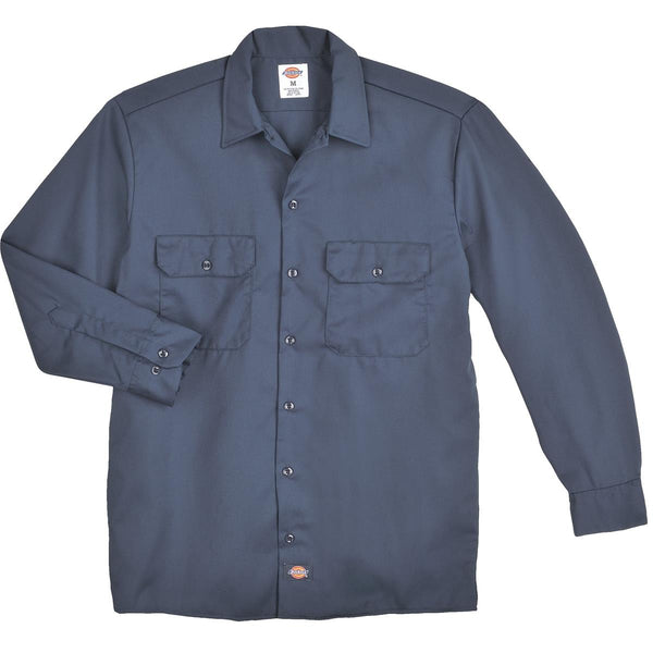 DICKIES 574 LONG SLEEVE BUTTON UP WORK SHIRTS MENS SIZE S 4XL