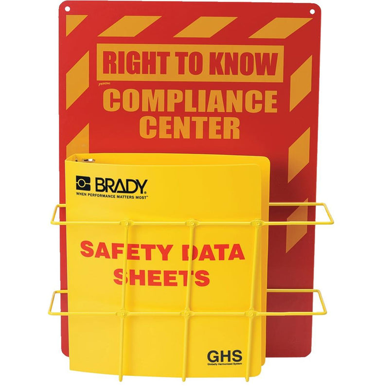 BRADY Right-to-Know SDS Binder Center