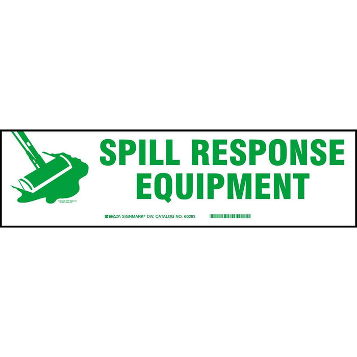 """Spill Response Equipment"" Self-adhesive Cabinet Label"